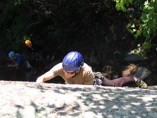Climbing at Montagne D'Argent